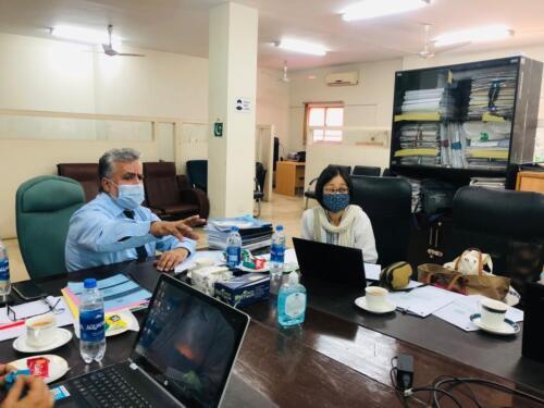 Meeting at STEDA Office